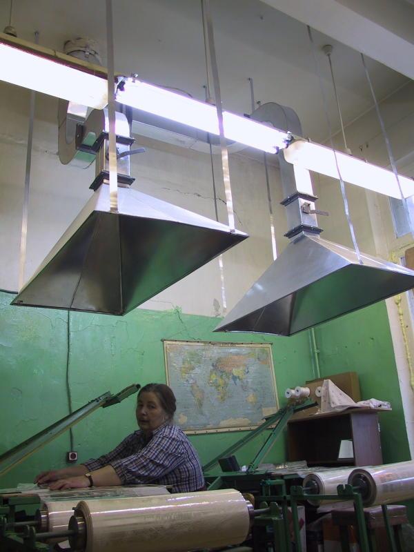 пример организации местной вытяжной вентиляции